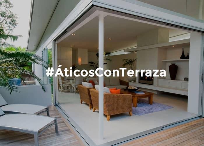 comprar o alquilar pisos aticos con terraza
